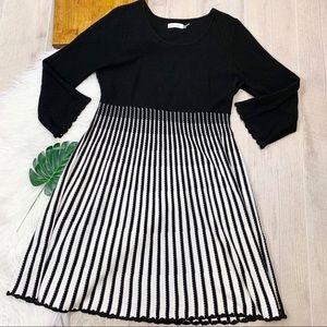 Calvin Klein Long Sleeve Stripe Sheath Dress B1596
